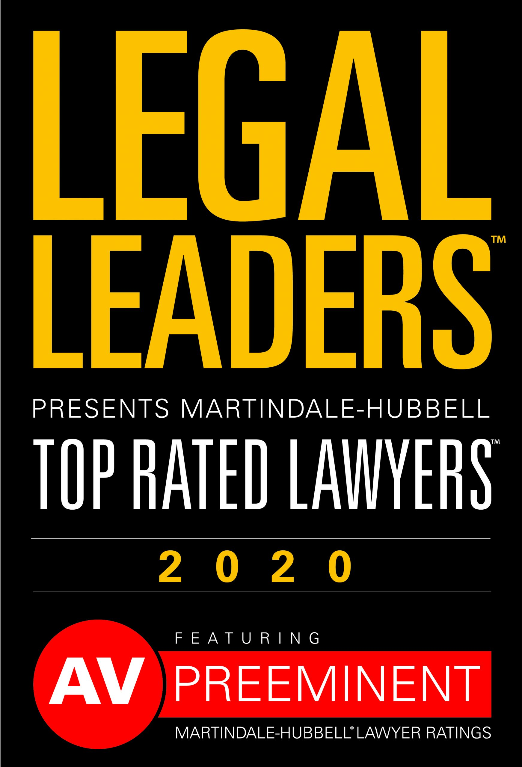 Legal Leaders Top Rate Lawyers 2020