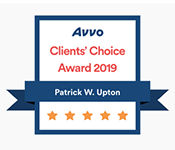 Award Badge - Avvo Client's Choice Award 2019 for Patrick Upton