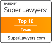 Award Badge Texas Super Lawyer Top 10 Texas