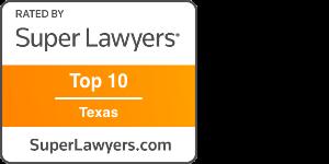 Award Badge Texas Super Lawyer Top 10 Texas