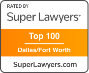 Texas Super Lawyers Award Badge for Top 100 in Dallas/Fort Worth, Texas
