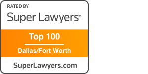 Award Badge Texas Super Lawyer Top 100 Dallas/Fort Worth