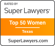 Award Badge Texas Super Lawyer Top 50 Women Texas