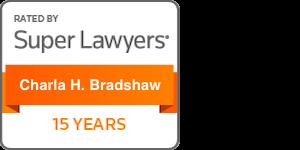 Award Badge Texas Super Lawyers 15 Years for Charla Bradshaw