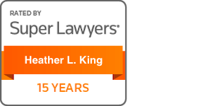 Award Badge Texas Super Lawyers 15 Years for Heather King