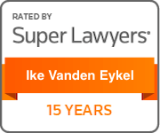 Award Badge Texas Super Lawyers 15 Years for Ike Vanden Eykel