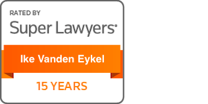 Award Badge Texas Super Lawyers 15 Years for Ike Vanden Eykel