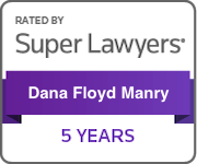 Award Badge for Texas Super Lawyers 5 Years Dana Manry