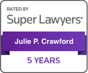 Award Badge Texas Super Lawyers 5 Years for Julie Crawford