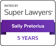 Award Badge Texas Super Lawyers 5 Years for Sally Pretorius