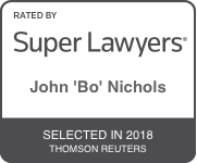 Award Badge for Texas Super Lawyer John Bo Nichols by Thomson Reuters