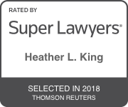 Award Badge for Texas Super Lawyer Heather King by Thomson Reuters