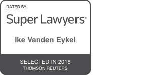 Award Badge for Texas Super Lawyer Ike Vanden Eykel by Thomson Reuters