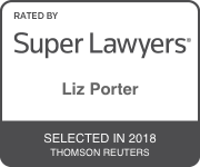 Award Badge for Texas Super Lawyer Liz Porter by Thomson Reuters