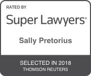 Award Badge for Texas Super Lawyer Sally Pretorius by Thomson Reuters