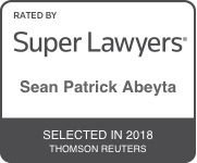 Award Badge for Texas Super Lawyer Sean Abeyta by Thomson Reuters