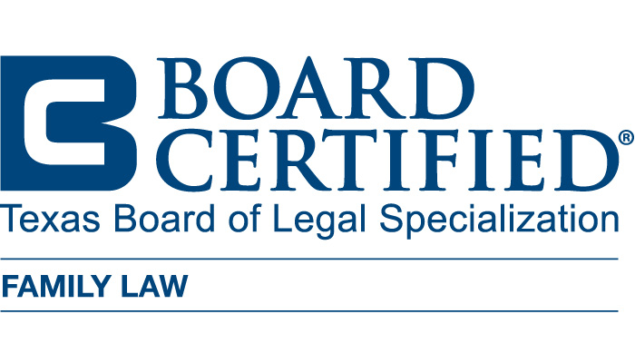 Board Certified in Family Law by Texas Board of Legal Specialization Badge