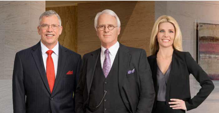 2019 D Magazine Best Lawyers Rick Robertson, Ike Vanden Eykel, and Liz Porter